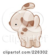 Royalty Free RF Clipart Illustration Of A Cute Puppy Dog Looking Back