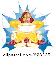 Royalty Free RF Clipart Illustration Of A Star School Mascot Super Hero