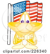 Royalty Free RF Clipart Illustration Of A Star School Mascot