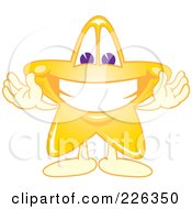 Royalty Free RF Clipart Illustration Of A Star School Mascot Welcoming by Toons4Biz