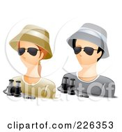 Royalty Free RF Clipart Illustration Of A Digital Collage Of Male And Female Ranger Avatars