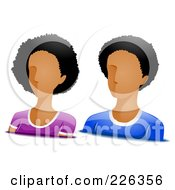Royalty Free RF Clipart Illustration Of A Digital Collage Of Male And Female African American Avatars by BNP Design Studio