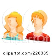 Royalty Free RF Clipart Illustration Of A Digital Collage Of Blond Male And Female Avatars by BNP Design Studio