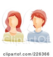 Royalty Free RF Clipart Illustration Of A Digital Collage Of Red Haired Male And Female Avatars by BNP Design Studio