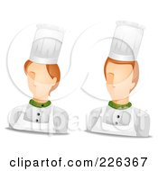 Royalty Free RF Clipart Illustration Of A Digital Collage Of Male And Female Chef Avatars by BNP Design Studio
