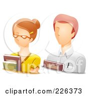 Royalty Free RF Clipart Illustration Of A Digital Collage Of Male And Female Teacher Avatars by BNP Design Studio