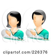 Digital Collage Of Male And Female Pediatrician Avatars
