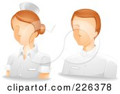Royalty Free RF Clipart Illustration Of A Digital Collage Of Male And Female Nurse Avatars by BNP Design Studio