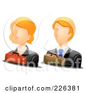 Royalty Free RF Clipart Illustration Of A Digital Collage Of Male And Female Business Avatars by BNP Design Studio
