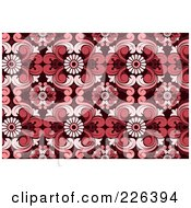 Royalty Free RF Clipart Illustration Of A Red Seamless Damask Background Pattern