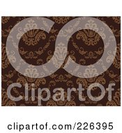 Royalty Free RF Clipart Illustration Of A Brown Damask Background Pattern