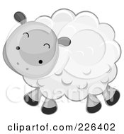 Royalty Free RF Clipart Illustration Of A Cute Sheep
