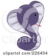 Cute Purple Cobra