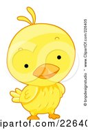 Royalty Free RF Clipart Illustration Of A Cute Yellow Birdie