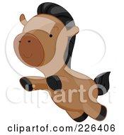 Cute Horse Leaping