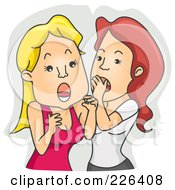 Royalty Free RF Clipart Illustration Of A Woman Shocked Over Gossip by BNP Design Studio