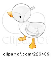 Royalty Free RF Clipart Illustration Of A White Baby Duck