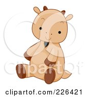 Royalty Free RF Clipart Illustration Of A Cute Sitting Goat