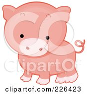 Royalty Free RF Clipart Illustration Of A Cute Piggy
