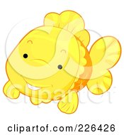 Royalty Free RF Clipart Illustration Of A Cute Goldfish