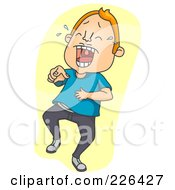 Royalty Free RF Clipart Illustration Of A Man Laughing And Pointing