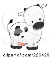 Royalty Free RF Clipart Illustration Of A Cute Cow by BNP Design Studio