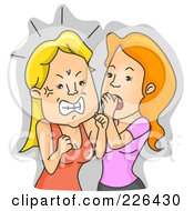 Royalty Free RF Clipart Illustration Of A Woman Getting Angry Over Gossip by BNP Design Studio