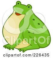 Royalty Free RF Clipart Illustration Of A Cute Frog by BNP Design Studio