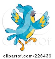 Royalty Free RF Clipart Illustration Of A Blue And Yellow Parrot by BNP Design Studio