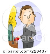 Royalty Free RF Clipart Illustration Of A Man Picking A Womans Pocket by BNP Design Studio