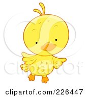 Royalty Free RF Clipart Illustration Of A Cute Yellow Bird Flying by BNP Design Studio