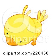 Royalty Free RF Clipart Illustration Of A Cute Yellow Bird by BNP Design Studio