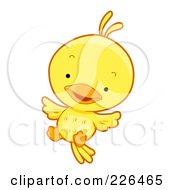 Cute Yellow Bird Jumping