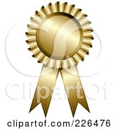 Royalty Free RF Clipart Illustration Of A 3d Golden Award Ribbon