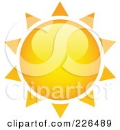 Royalty Free RF Clipart Illustration Of A 3d Shiny Yellow And Orange Sun With Spiked Rays by TA Images #COLLC226489-0125