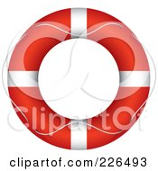 Royalty Free RF Clipart Illustration Of A Rope Around A Red Life Buoy