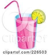 Glass Of Pink Lemonade
