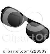 3d Pair Of Sunglasses With Dark Lenses