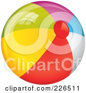 Royalty Free RF Clipart Illustration Of A 3d Colorful Beach Ball