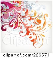 Royalty Free RF Clipart Illustration Of A Grungy Floral Background 12