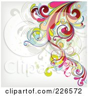 Royalty Free RF Clipart Illustration Of A Grungy Floral Background 10