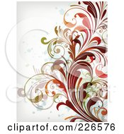 Royalty Free RF Clipart Illustration Of A Grungy Floral Background 3
