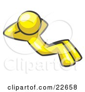Clipart Illustration Of A Yellow Man Doing Sit Ups While Strength Training