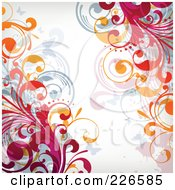 Royalty Free RF Clipart Illustration Of A Grungy Floral Background 13