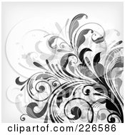 Royalty Free RF Clipart Illustration Of A Grungy Floral Background 6