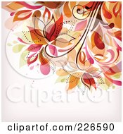 Royalty Free RF Clipart Illustration Of A Grungy Floral Background 5
