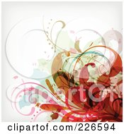 Royalty Free RF Clipart Illustration Of A Grungy Floral Background 7