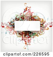 Royalty Free RF Clipart Illustration Of A White Space Framed By Colorful Splatters And Flourishes
