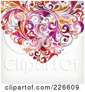 Royalty Free RF Clipart Illustration Of The Bottom Of A Flourish Heart 2 by OnFocusMedia
