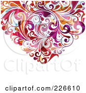 Royalty Free RF Clipart Illustration Of The Bottom Of A Flourish Heart 1 by OnFocusMedia